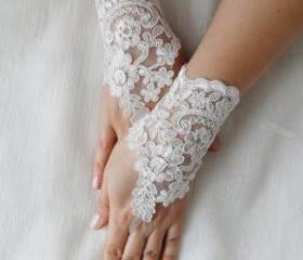 bridal lace gloves, fingerless gloves, bride gloves,