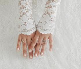 Bridal glove, Wedding glove, Cream glove, Belly Dance, Fetish, Fishnet, Bridal Lolita, wedding glove, vintage lace